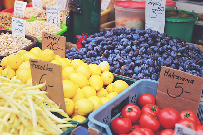 warzywa, cytryny, fasola, pomidory