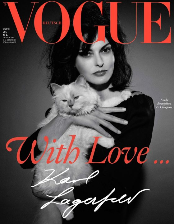 Linda-Evangelista-and-Choupette-by-Karl-Lagerfeld-for-Vogue-Germany-July-2013-1