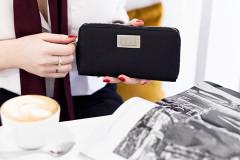 portfel czarny damski MAKO