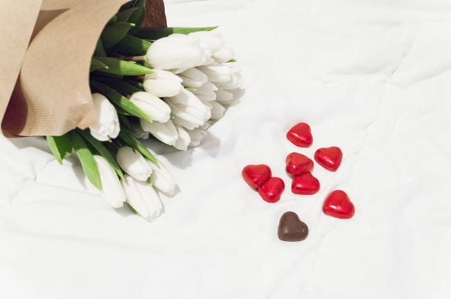 tulipany, czekolada