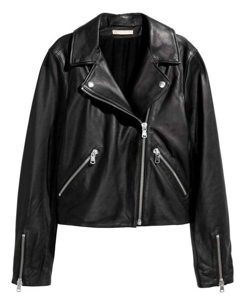 H&M Skórzana kurtka motocyklowa