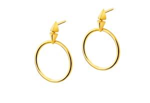 Złote kolczyki marki Apart, kolekcja Indali