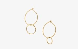 Złote kolczyki Rett Frem, Model Saburi