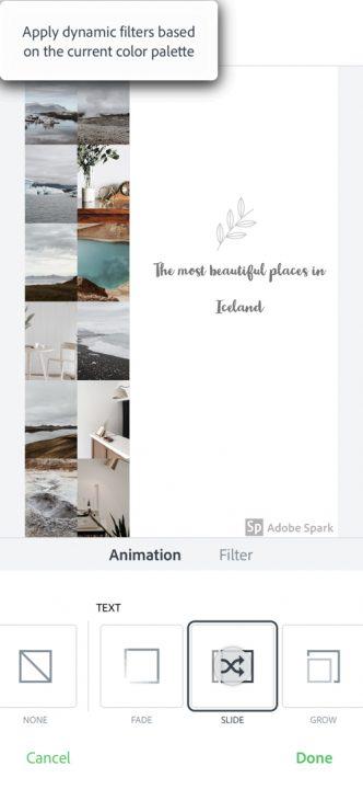 Aplikacje do obróbki zdjęć na Insta Stories, ADOBE SPARK POST