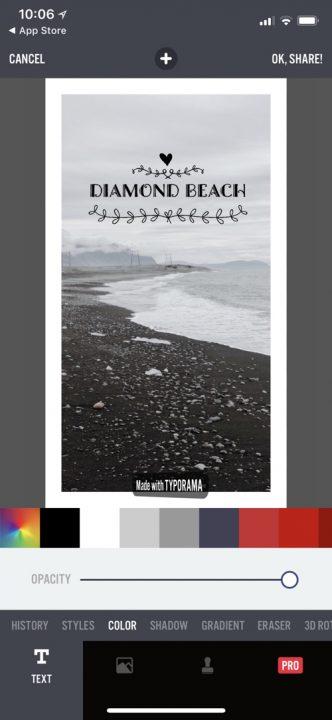 Aplikacje do obróbki zdjęć na Insta Stories, TYPORAMA