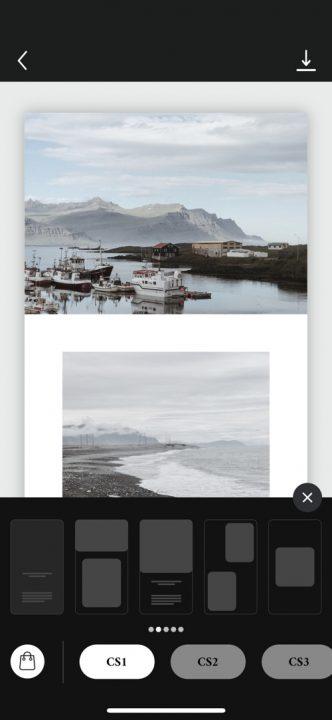Aplikacje do obróbki zdjęć na Insta Stories, UNFOLD