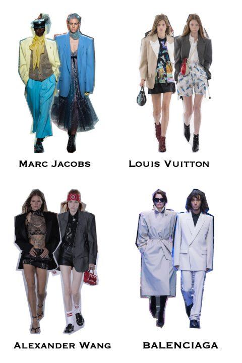 Pudełkowy blazer, trendy na wiosnę lato 2019, moda 2019, Marrc Jacobs, Louis Vuitton