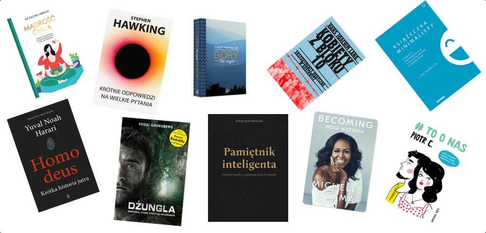Książki, które musisz przeczytać w 2019, Michelle Obama, Stephen Hawking Homo deus, # to o nas
