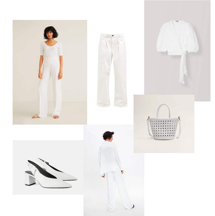Mango spodnie, Zara buty, Ganni bluzka, Zara koszula