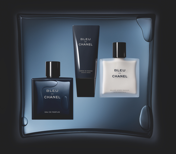 Bleu de Chanel, krem do golenia Bleu de Chanel i nawilżający krem 2 w 1 do twarzy i brody Bleu de Chanel