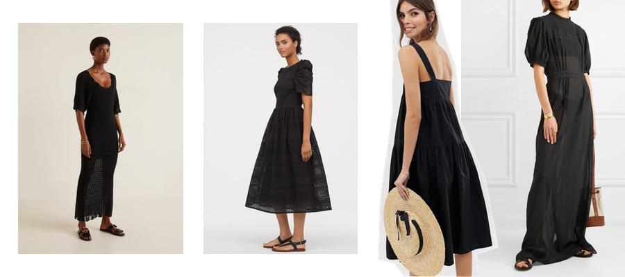MANGO, H&M, ASOS DESIGN, MATIN czarna sukienka