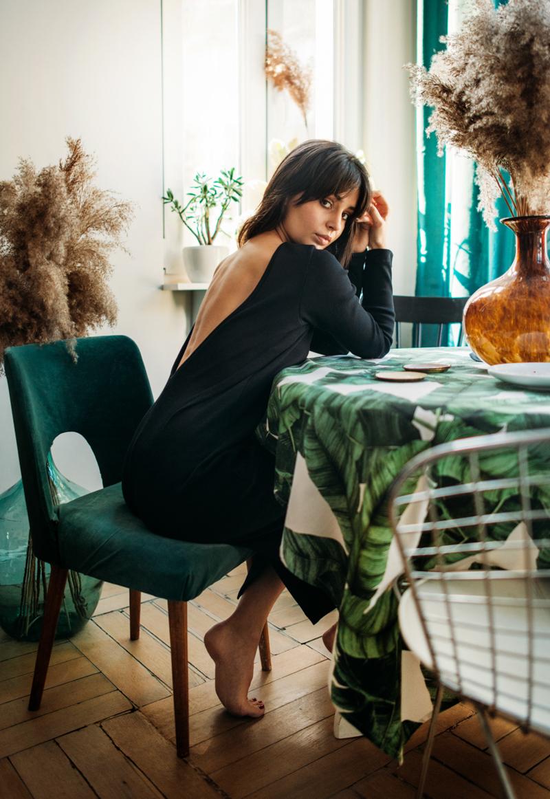 Nowa kolekcja Patchouli, czarna sukienka, molska marka Patchouli