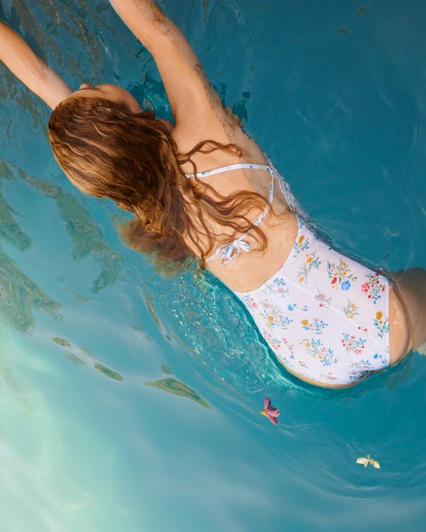 strój kąpielowy w kwiaty, strój kąpielowy Edited