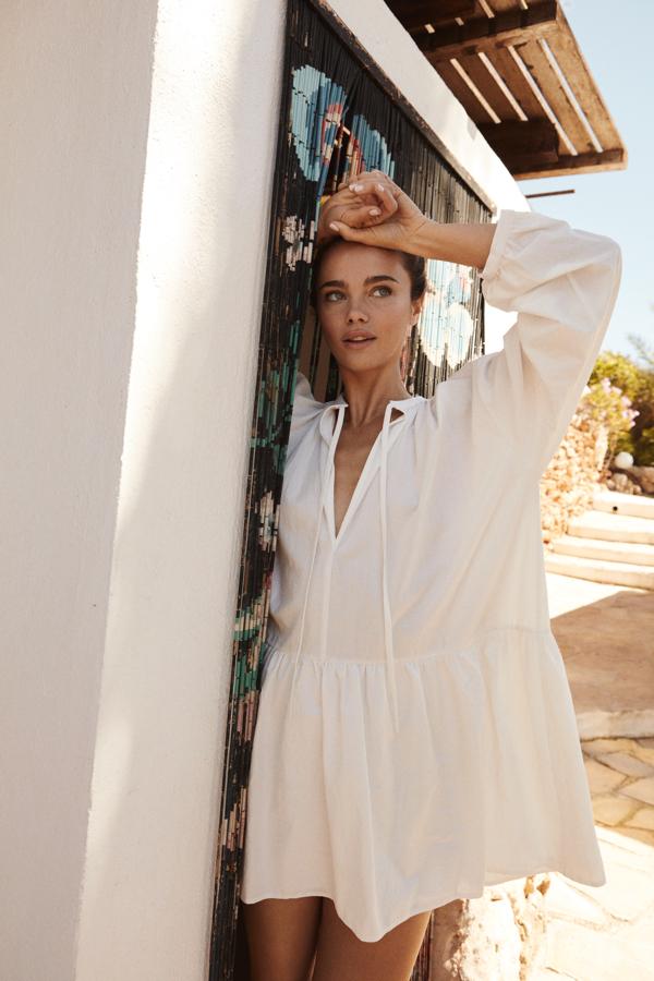 The odder side sukienka, biała sukienka, sukienka z lnu, lniana sukienka