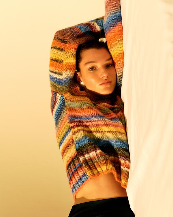 Nowa kolekcja EDITED, ubrania Edited, modne ubrania na jesień, sweter kolorowy