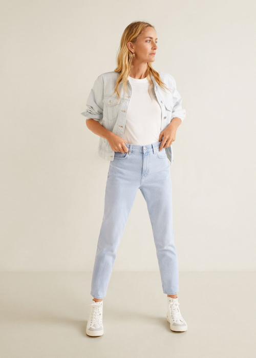 gdzie kupić jeansy mom fit, mom fit jeansy MANGO