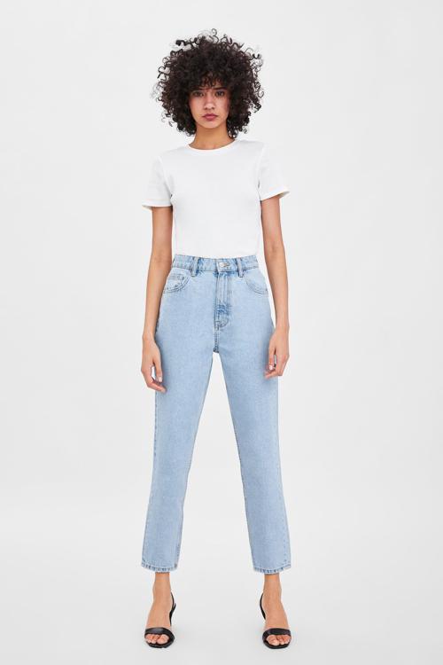 mom fit jeansy Zara, najmodniejsze jeansy mom fit