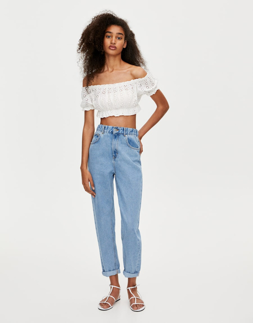 mom fit jeansy PULL and BEAR, gdzie kupić jeansy mom fit