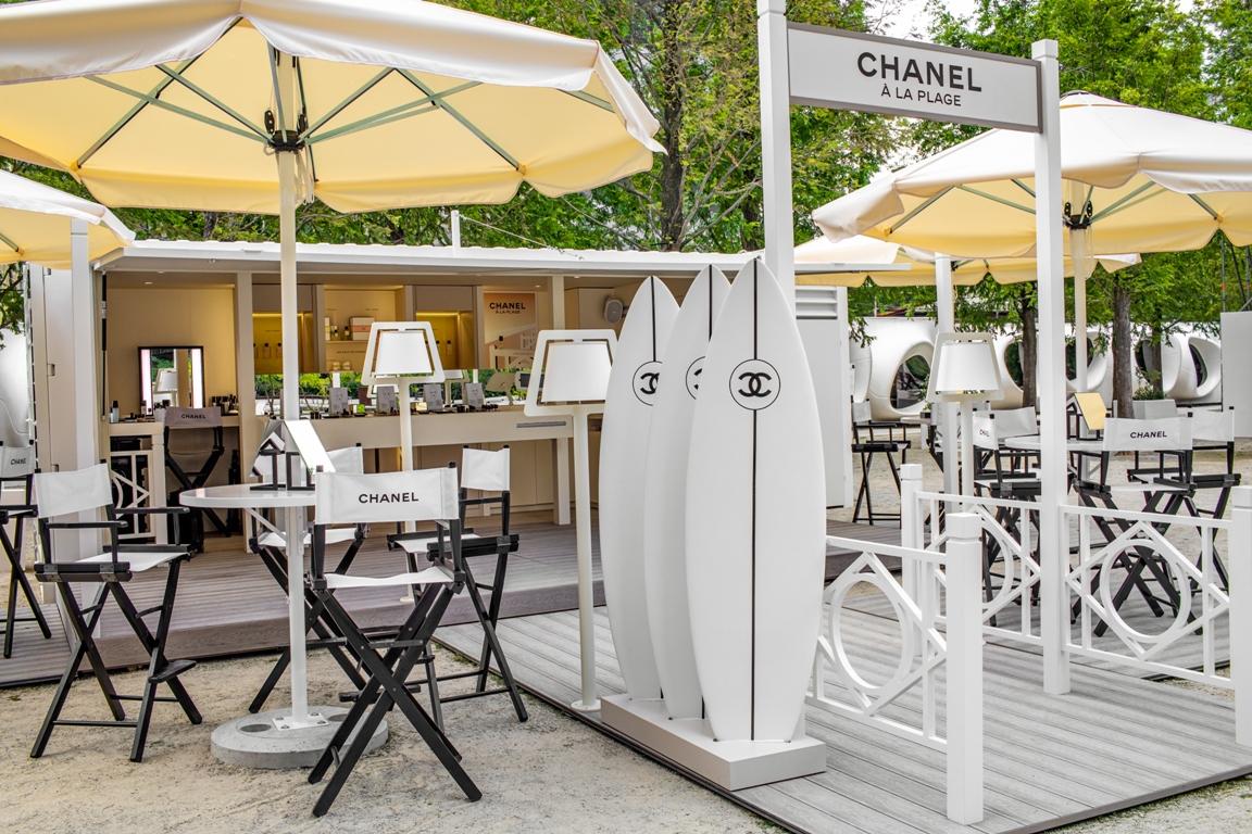 plaża Chanel w centrum Warszawy