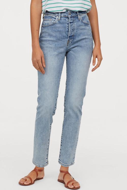 gdzie kupić jeansy mom fit, mom fit jeansy H&M