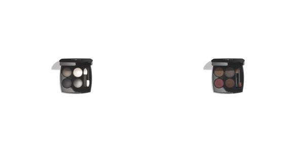 Chanel Les 4 ombres 334 Modern Glamour i 332 Noir Supreme - dwie zupełnie różne, limitowane palety cieni