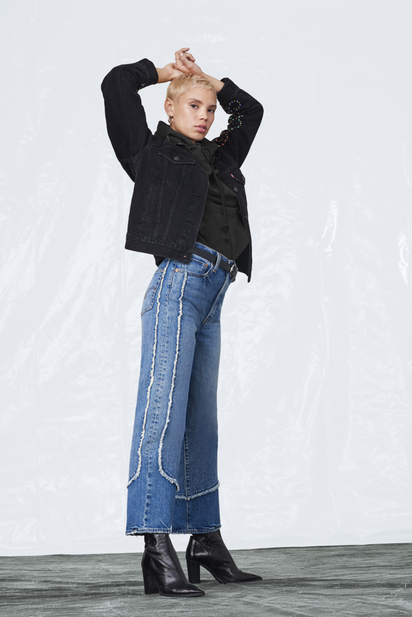 jeansy z wysokiem staniem