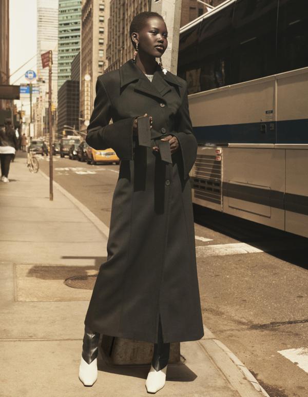H&M STUDIO AW19 czarny płaszcz