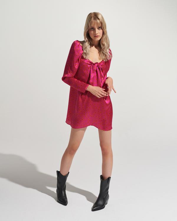 różowa sukienka Affair