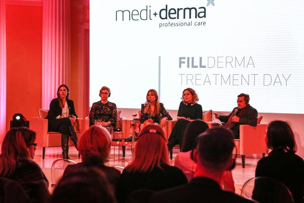 Od lewej: dr Carmen Faus, dr Elżbieta Kowalska – Olędzka, dr Aleksandra Jagielska, dr Ewa Rybicka, dr Gabriel Serrano (twórca marki Mediderma i Sesderma)