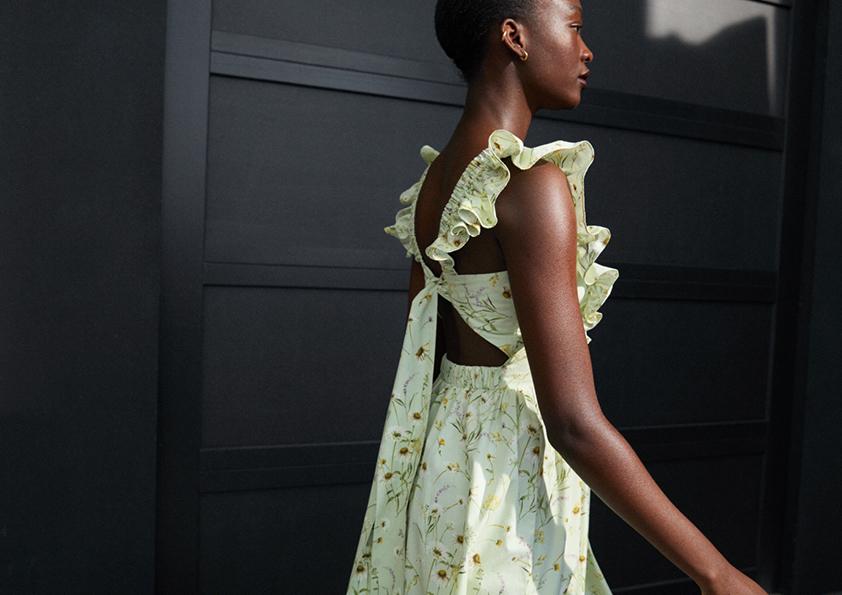 kwiatowe sukienki H&M